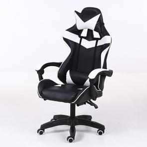 Computer Office Chair Home Gaming Chair Lifted Rotating Lounge Chair with Nylon Feet (Black)