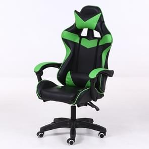 Computer Office Chair Home Gaming Chair Lifted Rotating Lounge Chair with Nylon Feet (Green)