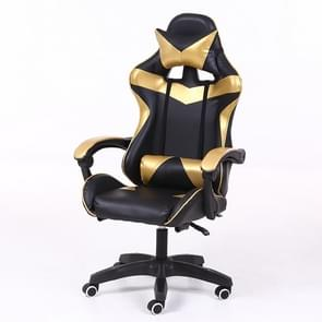 Computer Office Chair Home Gaming Chair Lifted Rotating Lounge Chair with Nylon Feet (Gold)