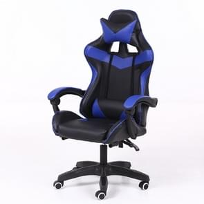 Computer Office Chair Home Gaming Chair Lifted Rotating Lounge Chair with Nylon Feet (Blue)