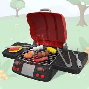 MoFun 6033 Simulation Electric Grill Children Barbecue String Toy Set (Red)