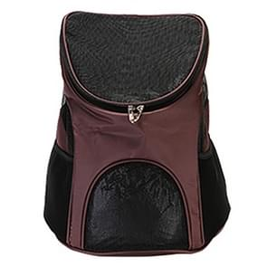 Portable Folding Nylon Breathable Pet Carrier Backpack, Size: 45 x 36 x 31cm(Coffee)