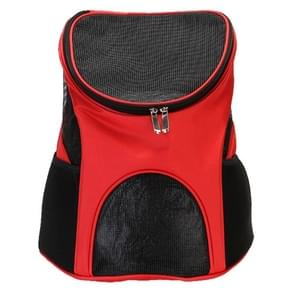 Portable Folding Nylon Breathable Pet Carrier Backpack, Size: 45 x 36 x 31cm(Red)