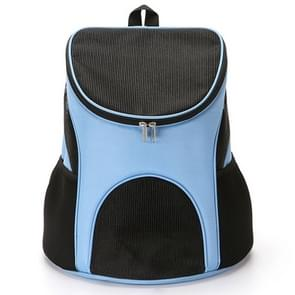 Portable Folding Nylon Breathable Pet Carrier Backpack, Size: 33 x 30 x 24cm (Blue)
