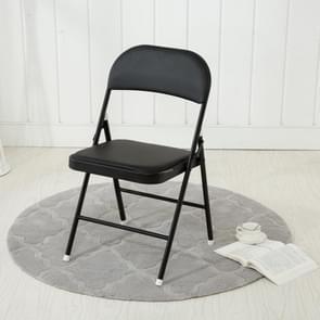 Eenvoudige huishoudelijke opvouwbare computer stoel conferentie stoel (zwart)