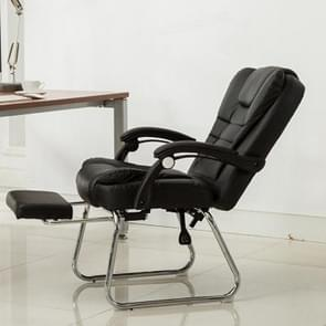 QZ-7 Home Modern Simple Computer Chair Office Boss Chair Conference Chair Footrest Reclining Chair (Black)