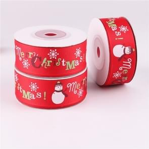 3 PCS Double-sided Christmas Gift Box Flowers Packing Coloured Ribbon, Width: 2.5cm, Random Color Delivery