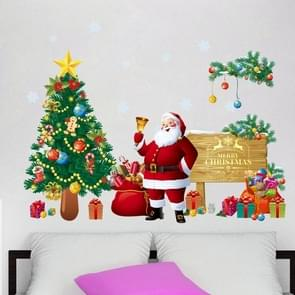 Christmas Tree Santa Claus Living Room Bedroom Removable Wall Sticker Decoretion