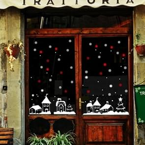 Santa Claus Snowflakes Window Glass Door Removable Static Electricity Christmas Wall Sticker Decoretion