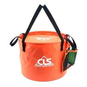 30L 4 in 1 PVC Outdoor Folding Double Drain Basket Camping Fishing Gear Bag