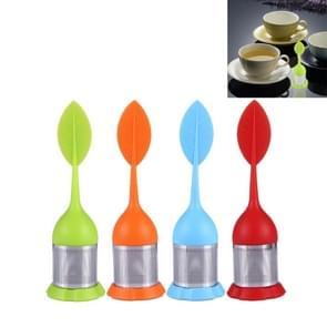 4 PC's Food Grade blad siliconen maken theezakje RVS thee vulinrichtingen  willekeurige kleur levering