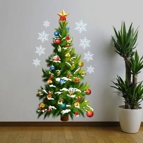 Christmas Trees Stars Living Room Window Glass Door Removable Christmas Wall Sticker Decoration