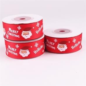3 stuks dubbelzijdig afdrukken Christmas Gift Box bloemen verpakking gekleurd lint  breedte: 2.5 cm  willekeurige kleur levering