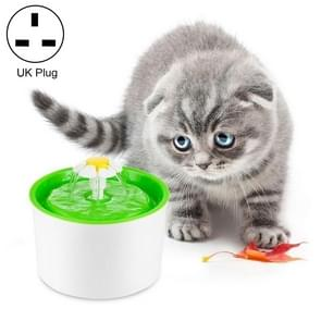 1.6L Automatic Electric Water Fountain Dog Cat Pet Drinker Bowl Drinking Fountain Dispenser, UK Plug (Green)