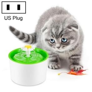 1.6L Automatic Electric Water Fountain Dog Cat Pet Drinker Bowl Drinking Fountain Dispenser, US Plug (Green)
