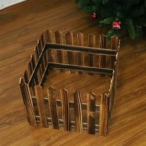 1.6m Christmas Tree Decoration Window Props Wooden Fence (Wood)