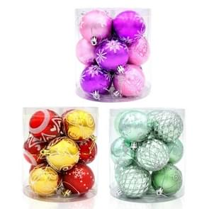 3 Barrels / 36 PCS Painted Bright Light Hanging String Ball Christmas Tree Decoration, Random Color Delivery