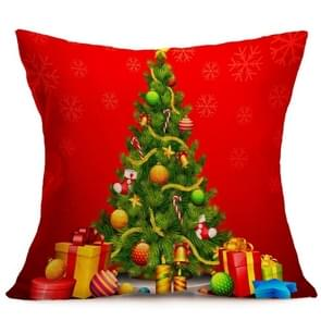 Christmas Festival patroon Car Sofa Pillowhoesje met Decorative Head Restraints Home Sofa Pillowcase, D, Afmeting:43*43cm