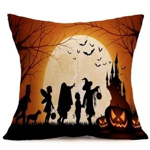 Halloween Decoration patroon Car Sofa Pillowhoesje met Decorative Head Restraints Home Sofa Pillowcase, A, Afmeting:43*43cm