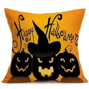 Halloween Decoration patroon Car Sofa Pillowhoesje met Decorative Head Restraints Home Sofa Pillowcase, B, Afmeting:43*43cm