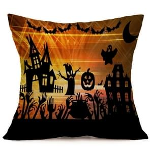 Halloween Decoration patroon Car Sofa Pillowhoesje met Decorative Head Restraints Home Sofa Pillowcase, C, Afmeting:43*43cm