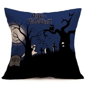 Halloween Decoration patroon Car Sofa Pillowhoesje met Decorative Head Restraints Home Sofa Pillowcase, D, Afmeting:43*43cm