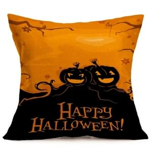 Halloween Decoration patroon Car Sofa Pillowhoesje met Decorative Head Restraints Home Sofa Pillowcase, E, Afmeting:43*43cm