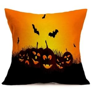 Halloween Decoration patroon Car Sofa Pillowhoesje met Decorative Head Restraints Home Sofa Pillowcase, F, Afmeting:43*43cm