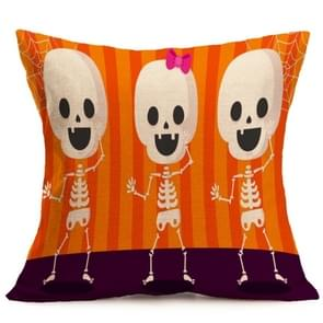 Halloween Decoration patroon Car Sofa Pillowhoesje met Decorative Head Restraints Home Sofa Pillowcase, G, Afmeting:43*43cm