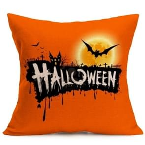 Halloween Decoration patroon Car Sofa Pillowhoesje met Decorative Head Restraints Home Sofa Pillowcase, J, Afmeting:43*43cm