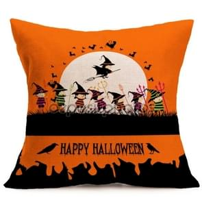 Halloween Decoration patroon Car Sofa Pillowhoesje met Decorative Head Restraints Home Sofa Pillowcase, K, Afmeting:43*43cm