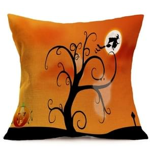 Halloween Decoration patroon Car Sofa Pillowhoesje met Decorative Head Restraints Home Sofa Pillowcase, M, Afmeting:43*43cm