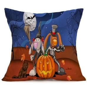 Halloween Decoration patroon Car Sofa Pillowhoesje met Decorative Head Restraints Home Sofa Pillowcase, N, Afmeting:43*43cm
