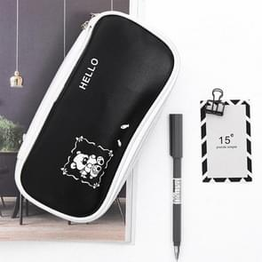 Creative Multi-function Simple Large Capacity Black and White Pattern Pen Pencil Case Bag