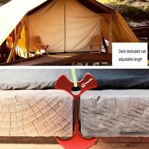 Plank dek Camping vis bot nagel  Aluminium Tenks Wind touw anker ketting Nail(Red)