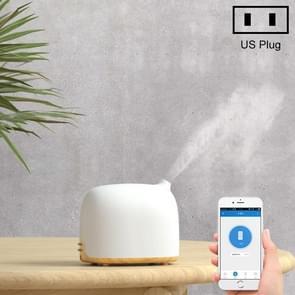 GX-02K Intelligent WIFI Wood-grain Air Humidifier Aromatherapy Essential Oil Diffuser, Light Wood Grain, US Plug
