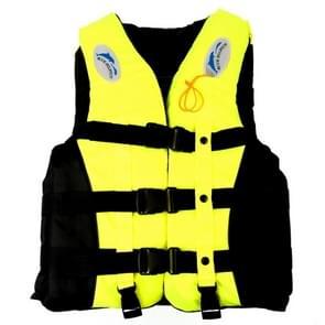 Drifting zwemmen vissen reddingsvesten met fluit voor kinderen  Size:S(Yellow)