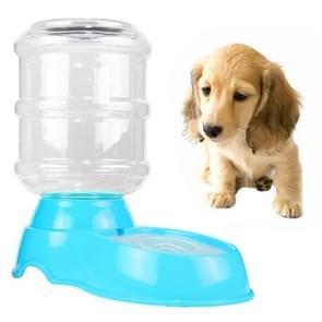 3.5 l huisdier zwaartekracht Waterer honden katten plastic Self-doseren zwaartekracht huisdier feeder (blauw)