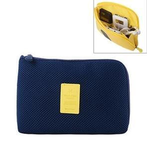 Schokbestendige draagbare opslag van digitale Pocket cosmetische organisator reistas  formaat: 12.5 x 16 cm x 3 cm(Dark Blue)