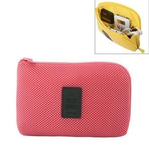 Schokbestendige draagbare opslag van digitale Pocket reistas cosmetische organisator  formaat: 12.5 x 16 cm x 3cm(Red)