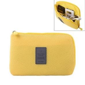 Schokbestendige draagbare opslag van digitale Pocket cosmetische organisator reistas  grootte: 22 x 15 cm x 3 cm (geel)