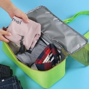 Portable Double Layer Mesh Sport Duffel strand picknick schouder opslag zak Handbag(Green)