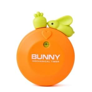 Rabbit 60 Minutes Mechanical Kitchen Cooking Count Down Alarm Timer Home Decorating Gadget, Random Color Delivery