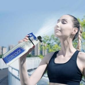 O2COOL 590ML Summer Portable Cooling Down Spray Water Cup Outdoor Sports Drinking Bottle for Adult(Dark Blue)