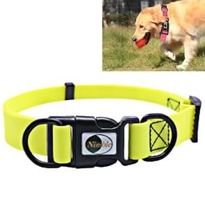 PVC Material Waterproof Adjustable Dual Loop Pet Dogs Collar, Suitable for Ferocious Dogs, Size: M, Collar Size: 30-47 cm (Yellow)