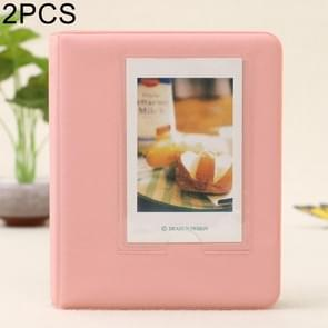 2 PCS DIY Creativity Insert Type Pinkycolor 64 Pages Exquisite Photo Album(Pink)