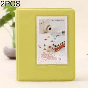 2 PCS DIY Creativity Insert Type Pinkycolor 64 Pages Exquisite Photo Album(Green)