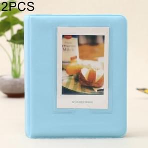 2 PCS DIY Creativity Insert Type Pinkycolor 64 Pages Exquisite Photo Album(Blue)