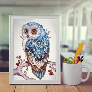 DIY 3D Diamond borduurwerk Owl schilderij  grootte: 24 * 16cm