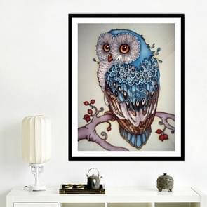 DIY 3D Diamond borduurwerk Owl schilderij  grootte: 34 * 54cm